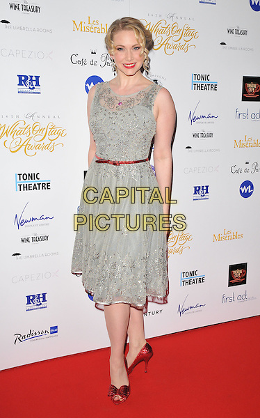 Emma Williams attends the Whatsonstage.com Awards Concert 2016, Prince of Wales Theatre, Coventry Street, London, UK, on Sunday 21 February 2016.<br /> CAP/CAN<br /> &copy;CAN/Capital Pictures