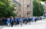 FK Trakai v St Johnstone&hellip;06.07.17&hellip; Europa League 1st Qualifying Round 2nd Leg, Vilnius, Lithuania.<br />The St Johnstone fans arrive at the LFF Stadium<br />Picture by Graeme Hart.<br />Copyright Perthshire Picture Agency<br />Tel: 01738 623350  Mobile: 07990 594431