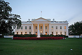 North side of the White House in Washington, D.C. prior to United States President Barack Obama's Address to the Nation on Wednesday, September 10, 2014.<br /> Credit: Ron Sachs / Pool via CNP