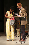 Chisa Hutchinson and Janis Purins during the Stage Presentation of Dramatists Guild Fund Fellows  2015-2016 at Playwrights Horizons on September 19, 2016 in New York City.