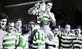 Celtic legend Sean Fallon (centre right) helps teammates hold captain Billy McPhail aloft with the Scottish Cup in 1951 - Picture by Donald MacLeod - 17.03.11 - 07702 319 738 - www.donald-macleod.com - clanmacleod@btinternet.com