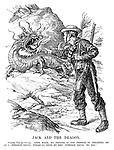 "Jack and the Dragon. British Tar (to China). ""Look here, my friend, if you persist in treating me as a 'foreign devil,' there'll soon be the 'foreign devil' to pay."""