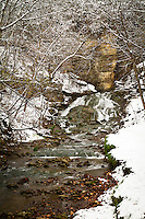 A view of Dunning Springs Waterfall in Winter.