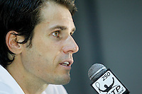 SAO PAULO 26 DE FEVEREIRO DE 2014 - BRASIL OPEN SAO PAULO 2014 - O tenista Tommy Haas durante coletiva de imprensa. O Brasil Open acontece no Ginásio do Ibirapuera, na cidade de São Paulo durante os dias 22 de fevereiro a 02 de março. foto: Paulo Fischer/ Brazil Photo Press.