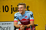 Marcel Kittel (GER) Team Katusha-Alpecin on stage at the Team Presentations for the 105th Tour de France 2018 held on Napoleon Square in La Roche-sur-Yon, France. 5th July 2018. <br /> Picture: ASO/Bruno Bade | Cyclefile<br /> All photos usage must carry mandatory copyright credit (&copy; Cyclefile | ASO/Bruno Bade)