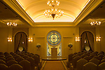 A wedding chapel in Las Vegas, Nevada, NV, city, wedding chapel, Tuscano, Caesars Palace Hotel and Casino, altar, stained glass, Photo nv273-17358.  .Copyright: Lee Foster, www.fostertravel.com, 510-549-2202,lee@fostertravel.com