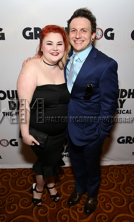 Katy Geraghty and Gerard Canonico attend the Broadway Opening Night After Party for 'Groundhog Day' at Gotham Hall on April 17, 2017 in New York City.