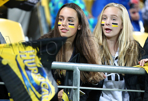 09.04.2016. Wellington, New Zealand.  fans during the Round 7 Super Rugby match, Hurricanes  versus Jaguares at Westpac Stadium, Wellington. 9th April 2016.
