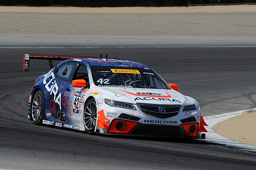 10-13 September, 2015, Monterey, California, USA<br /> #42 Peter Cunningham, Acura TLX-GT<br /> © 2015, Jay Bonvouloir, ESCP