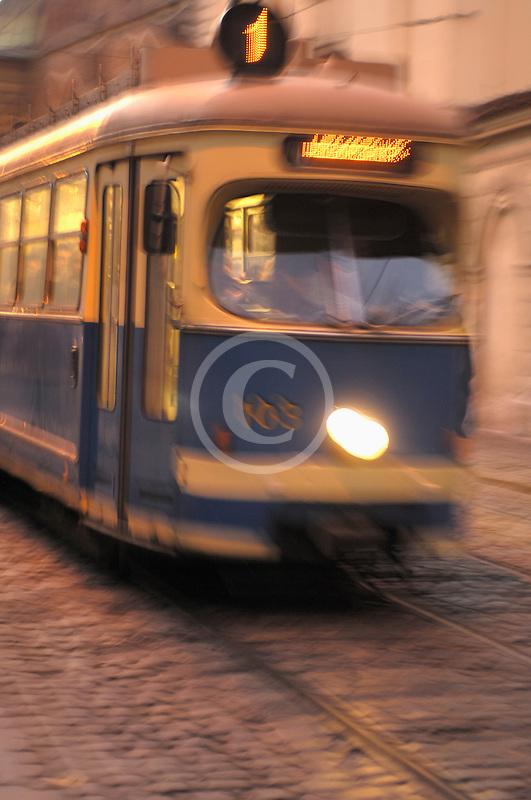 Poland, Krakow, Tramcar