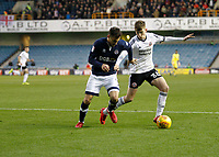 David Brooks of Sheffield United fends off Lee Gregory of Millwall during the Sky Bet Championship match between Millwall and Sheff United at The Den, London, England on 2 December 2017. Photo by Carlton Myrie / PRiME Media Images.