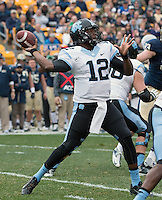 North Carolina quarterback Marquise Williams. The North Carolina Tar Heels defeated the Pitt Panthers 34-27 at Heinz Field, Pittsburgh Pennsylvania on November 16, 2013.