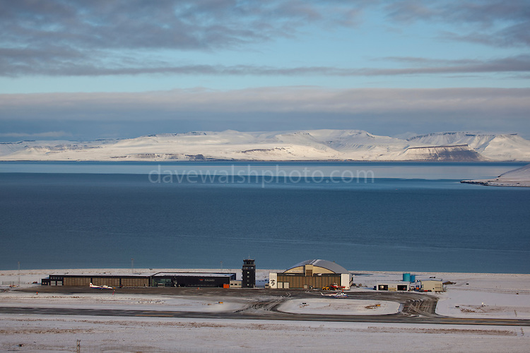 Longyearbyen Airport, on the Arctic island of Spitsbergen, Svalbard. It's the northernmost airport with scheduled flights in the world. Built on permafrost, the runway is insulated so that it won't melt in summer.