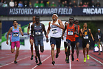 EUGENE, OR - JUNE 8: Isaiah Harris of the Penn State Nittany Lions races to victory in the 800 meter run during the Division I Men's Outdoor Track & Field Championship held at Hayward Field on June 8, 2018 in Eugene, Oregon. (Photo by Jamie Schwaberow/NCAA Photos via Getty Images)