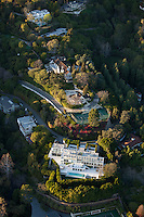Aerial view of a house in Bel Aire, Beverly Hills, CA