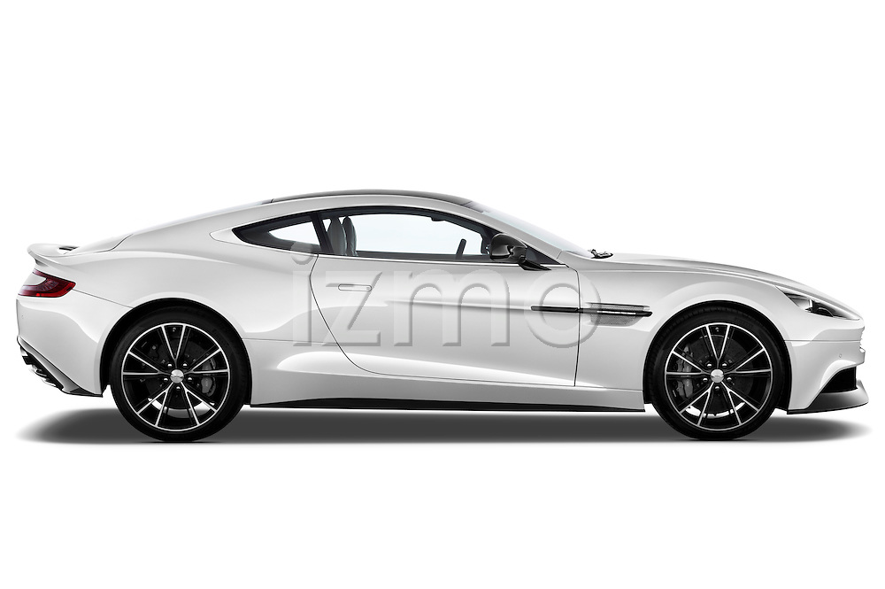 Passenger side profile view of a 2012 - 2014 Aston Martin Vanquish 2+2 Coupe.