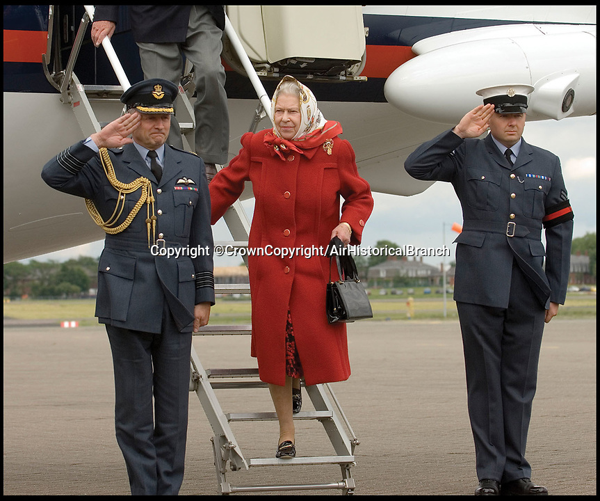 BNPS.co.uk (01202 558833)<br /> Pic: CrownCopyright/AirHistoricalBranch<br /> <br /> The Queen leaving a BAe146 at RAF Northolt in 2005.<br /> <br /> A new book gives an intimate look behind the scenes of the Royal Flight and also the flying Royals.<br /> <br /> Starting in 1917 the book charts in pictures the 100 year evolution of first the King's Flight and then later the Queen's Flight as well as the Royal families passion for aviation.<br /> <br /> Author Keith Wilson has had unprecedented access to the Queen's Flight Archives to provide a fascinating insight into both Royal and aeronautical history.