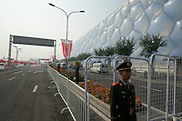 Security guard at the finish line -- 2011 Tour of Beijing, Stage 1 ITT