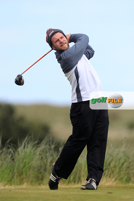 Michael Reid (Galgorm Castle) on the 10th tee during Round 2 of the East of Ireland Amateur Open Championship at Co. Louth Golf Club, Baltray on Sunday 30th May 2015.<br /> Picture:  Thos Caffrey / www.golffile.ie