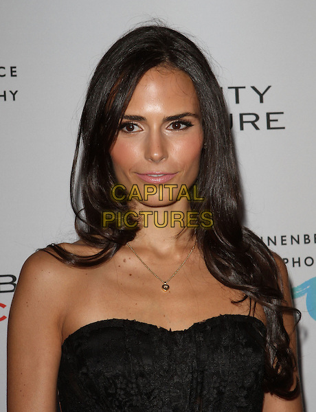 JORDANA BREWSTER .at The opening of Beauty Culture - a photographic exploration of how feminine beauty is defined, challenged and revered in modern society held at Annenberg Space for Photography in Century City, California, USA,.May 19th 11..portrait headshot  black strapless lace gold necklace .CAP/ADM/KB.©Kevan Brooks/AdMedia/Capital Pictures.