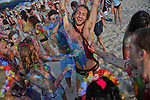 "Paint celebration at the ""Mid Burn"". the Israeli ""Burning Man Festival"" held at ""Habonim"" beach north of Israel October 4-6, 2012."