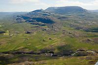 Hamarsgerði séð til suðurs, Mælifell í vinstra kant, Lýtingsstaðahreppur /  Hamarsgerdi former farmsite viewing south. Maelifell farm and church left in background.