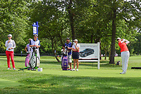 Giulia Molinaro (ITA) watches her tee shot on 17 during Thursday's round 1 of the 2017 KPMG Women's PGA Championship, at Olympia Fields Country Club, Olympia Fields, Illinois. 6/29/2017.<br /> Picture: Golffile | Ken Murray<br /> <br /> <br /> All photo usage must carry mandatory copyright credit (&copy; Golffile | Ken Murray)