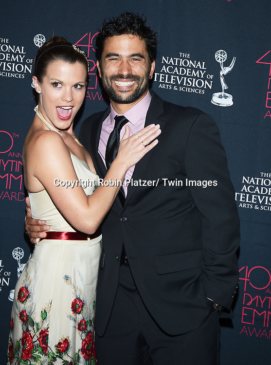 Melissa Claire Egan and Ignacio Serricchio attend the 40th Annual Daytime Creative Arts Emmy Awards on June 14, 2013 at the Westin Bonaventure Hotel in Los Angeles, California.