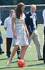 """*** Minimum Fee Applies *** - Must Telephone +441279 324672..CATHERINE, DUCHESS OF CAMBRIDGE HAS  A KICK-A-BOUT.After a bit of coxing Kate decided to have a go at kicking a football..But with the first attempt seeeing the ball hardly travel, she decided to have another go with guidance from hubby Prince William..The second attempt saw the ball go further. The Prince himself at earlier had an attempt at goal. The royal couple were joined by Prince Harry at Bacon's College, South London for the sports-themed event, to launch the Coach Core programme, a partnership bewteen their Foundation and Greenhouse_19/07/2012.Mandatory credit photo: ©Dias/DIASIMAGES..(Failure to credit will incur a surcharge of 100% of reproduction fees)..                **ALL FEES PAYABLE TO: """"NEWSPIX INTERNATIONAL""""**..IMMEDIATE CONFIRMATION OF USAGE REQUIRED:.DiasImages, 31a Chinnery Hill, Bishop's Stortford, ENGLAND CM23 3PS.Tel:+441279 324672  ; Fax: +441279656877.Mobile:  07775681153.e-mail: info@newspixinternational.co.uk"""
