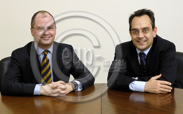 Brussels-Belgium - 18 January 2007---Morten NISSEN (le) and José (Jose) RIVAS (ri), lawyers at McDermott Will & Emery/Stanbrook LLP, Brussels office---Photo: Horst Wagner/eup-images