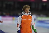 SCHAATSEN: HEERENVEEN: IJsstadion Thialf, 16-11-2012, Essent ISU World Cup, Season 2012-2013, Renate Groenewold (trainer/coach Team Corendon), ©foto Martin de Jong