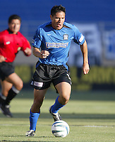 12 June 2004: Brian Ching in action against MetroStars at Spartan Stadium in San Jose, California.    Earthquakes defeated MetroStars, 3-1.  Mandatory Credit: Michael Pimentel / ISI
