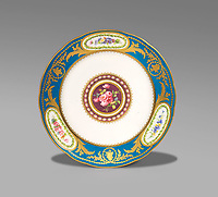 BNPS.co.uk (01202 558833)<br /> Pic: Woolley&Wallis/BNPS<br /> <br /> Sold for £8750 - Sevres plate given to Archduke Ferdinand by Louis XVI.<br /> <br /> One woman's lifetime collection of French porcelain that filled 'every nook and cranny' of her modest home sold for £373,000 yesterday, over £125,000 over estimate.<br /> <br /> The late Judith Howard's passion for 18th century gallic ceramics saw the walls, shelves and display cabinets adorned with hundreds of plates, dishes and bowls.<br /> <br /> She was well known for having an eye for a bargain, so much so that a 250-year-old plate she bought for £13 at an antiques shop sold for £31,000.<br /> <br /> The item was once part of the 1,735 dinner service set made for French King Louis XV and housed in the Palace of Versailles.