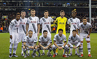 Tottenham Hotspur line up for a team photo during the UEFA Europa League group match between Tottenham Hotspur and Monaco at White Hart Lane, London, England on 10 December 2015. Photo by Andy Rowland.