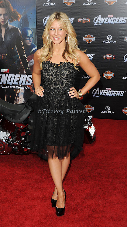 Chelsie Hightower at the premiere of Marvel's The Avengers, held at El Capitan Theatre in Hollywood,  CA. April 11, 2012