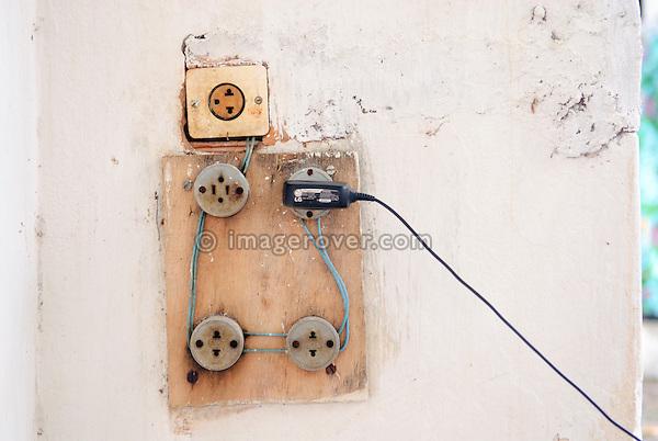 Brazil, Bahia, Lencois: Quite typical house electrics.