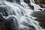 Gooseberry Falls State Park, Minnesota: Water flow patterns of Middle falls