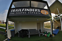 General view of the Home team dug-out ahead of the Greene King IPA Championship match between Ealing Trailfinders and London Welsh RFC at Castle Bar , West Ealing , England  on 26 November 2016. Photo by David Horn / PRiME Media Images