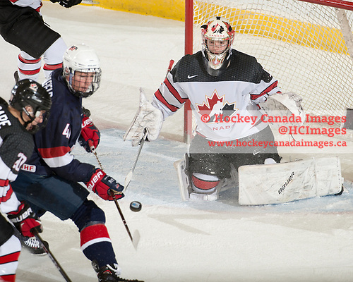 Dawson Creek, BC - Nov 9 2017 - Game 20 - Semifinal - Canada White vs. USA during the 2017 World Under-17 Hockey Challenge at the Encana Event Centre in Dawson Creek, British Columbia, Canada (Photo: Matthew Murnaghan/Hockey Canada Images)