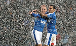 Kenny Miller and James Tavernier in a snowstorm