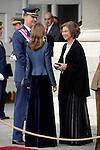 Queen Sofia, Prince Felipe and Princess Letizia during the Pascua Militar ceremony.January 06 ,2014. (ALTERPHOTOS/Pool)