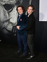LOS ANGELES, CA. October 17, 2018: Drew Scheid &amp; Dylan Arnold at the premiere for &quot;Halloween&quot; at the TCL Chinese Theatre.<br /> Picture: Paul Smith/Featureflash