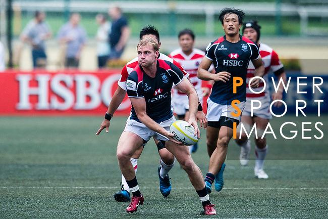 Jamie Hood of Hong Kong in action during the Asia Rugby Championship 2017 match between Hong Kong and Japan on May 13, 2017 in Hong Kong, China. Photo by Marcio Rodrigo Machado / Power Sport Images