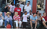 Bystanders watching the Saugerties July 4th Parade on Main Street in Saugerties, NY on Monday, July 4, 2011. Photo by Jim Peppler. Copyright © Jim Peppler 2011.