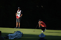 Brooks Koepka (USA) lines up his putt on 11 during round 2 of the Fort Worth Invitational, The Colonial, at Fort Worth, Texas, USA. 5/25/2018.<br /> Picture: Golffile | Ken Murray<br /> <br /> All photo usage must carry mandatory copyright credit (&copy; Golffile | Ken Murray)