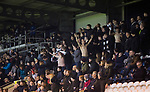 Home fans celebrate their team taking the lead during the second-half at the Paisley2021 Stadium as Scottish Championship side St Mirren (in white) played Welsh champions The New Saints in the semi-final of the Scottish Challenge Cup for the right to meet Dundee United in the final. The competition was expanded for the 2016-17 season to include four clubs from Wales and Northern Ireland as well as Scottish Premier under-20 teams. Despite trailing at half-time, St Mirren won the match 4-1 watched by a crowd of 2044, including 75 away fans.