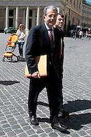 Romano Prodi.Roma 14/05/2013 Romano Prodi entra a Palazzo Chigi.Photo Samantha Zucchi Insidefoto