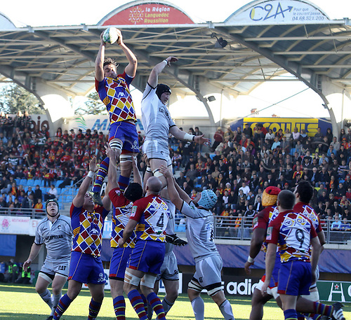 2010 Heineken Cup Rugby USAP Perpignan beat 24 - 19 Leicester Tigers at Stade Aime Giral Dec 11th