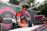 Rohan Dennis (AUS) BMC Racing Team at sign on before the start of Stage 21 of the 2018 Giro d'Italia, running 115km around the centre of Rome, Italy. 27th May 2018.<br /> Picture: LaPresse/Massimo Paolone | Cyclefile<br /> <br /> <br /> All photos usage must carry mandatory copyright credit (&copy; Cyclefile | LaPresse/Massimo Paolone)