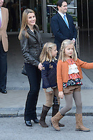 Princess Letizia of Spain, Princess Leonor of Spain and Princess Sofia of Spain visit King Juan Carlos of Spain at Quiron Hospital in Madrid. November 25 , 2012. (ALTERPHOTOS/Caro Marin) /NortePhoto